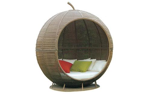 Giường bể bơi có mái che hình quả táo-zxfn009