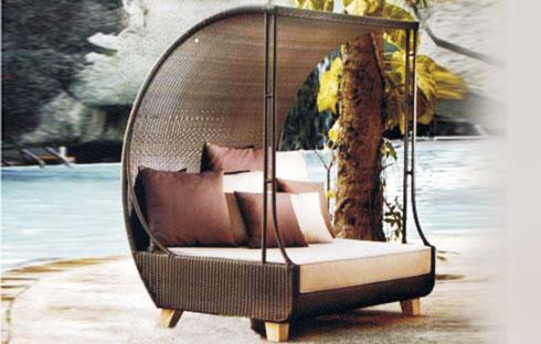 Giường bể bơi có mái cong XZFN012