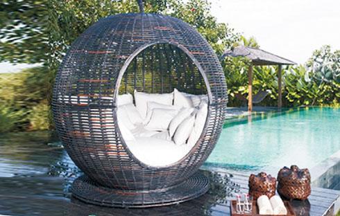 Giường bể bơi hình quả táo zxfn009-1