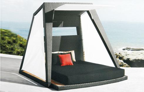 Giường bãi biển mái chóp cụt ZXFN003