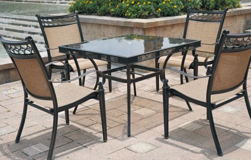 Bộ bàn ghế cafe ngoài trời nhập khẩu (ZXFL009)