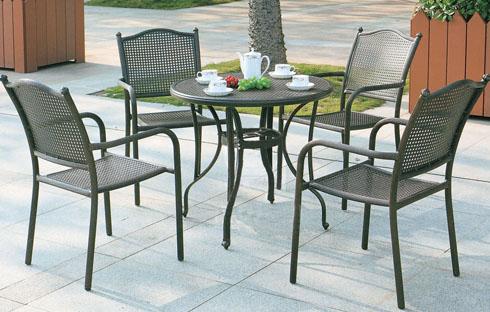 Bộ bàn ghế cafe sân vườn thiết kế cổ điển ZXFK005-1