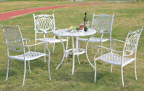 Bàn ghế ngoài trời sắt nghệ thuật (ZXFK018)