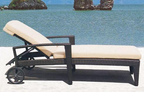 Giường bãi biển thiết kế có bánh xe ZXFC087