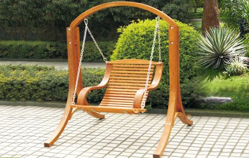 Ghế xích đu gỗ ngoài trời độc đáo (ZXFM056)