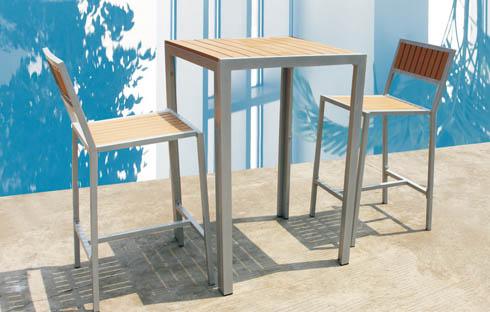 Bộ bàn ghế ban công khung hợp kim thiết kế đơn giản ZXFG015