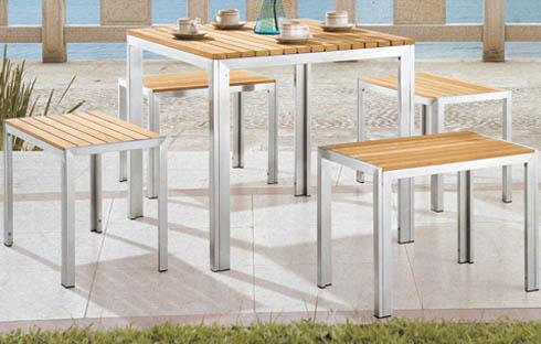 Bộ bàn ghế cafe sân vườn đơn giản ZXFG016