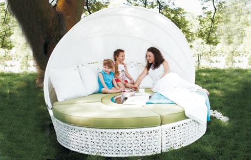 Bộ giường ngoài trời thanh lịch ZXFC019
