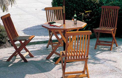 Bộ bàn ghế cafe sân vườn thiết kế giản dị ZXFD038