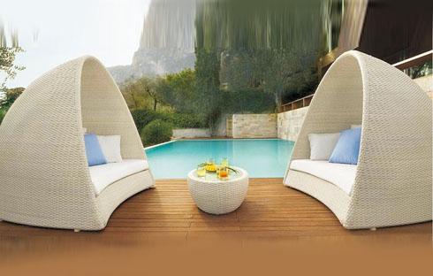 Bộ bàn ghế bể bơi dạng vòm ZXFC001