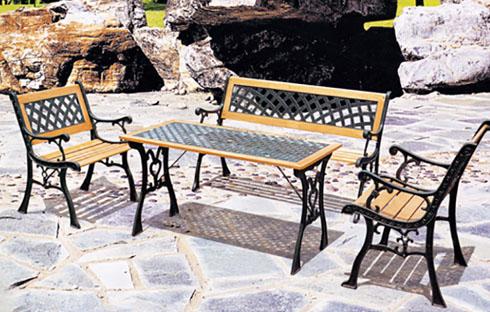 Bộ bàn ghế sân vườn mặt đan lưới cổ điển ZXFS022