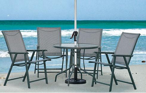Bộ bàn ghế ngoài trời xếp gấp tiện lợi ZXFL010