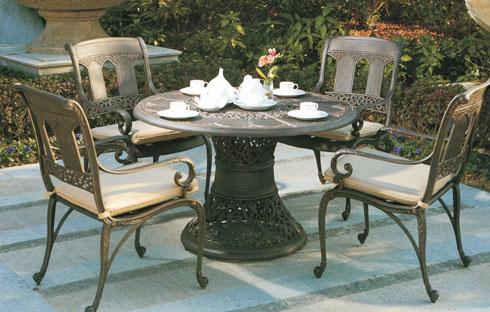 Bộ bàn ghế trà cổ độc đáo chất liệu hợp kim ZXFK019