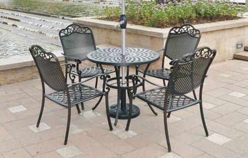 Bàn ghế sân vườn chất liệu hợp kim cao cấp ZXFK021