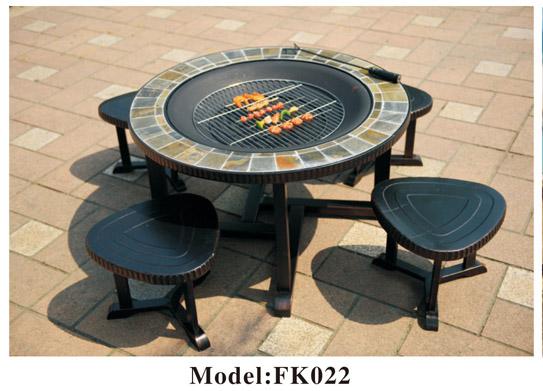 Kiểu dáng độc đáo của bàn nướng ngoài trời ZXFK022