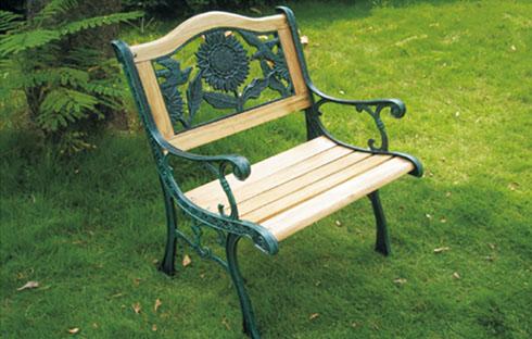 Ghế sân vườn có hình hoa trạm khắc ZXFS005