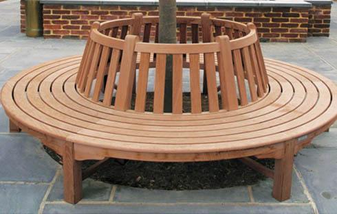 Ghế tròn có thiết kế đặt quanh gốc cây ZXFD039