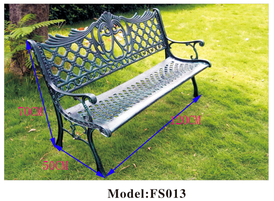 Ghế dài tựa lưng nghệ thuật hoa văn ZXFS013