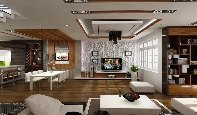 Thiết kế nội thất phòng khách yên ấm cho gia đình bạn