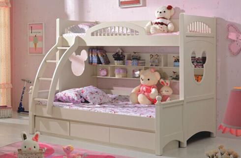 Cận cảnh mẫu giường tầng cho bé gái phong cách Hàn Quốc mới nhất