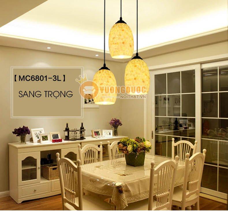 Tạo hiệu ứng thẩm mỹ cho nội thất phòng ăn với đèn thả trần độc đáo