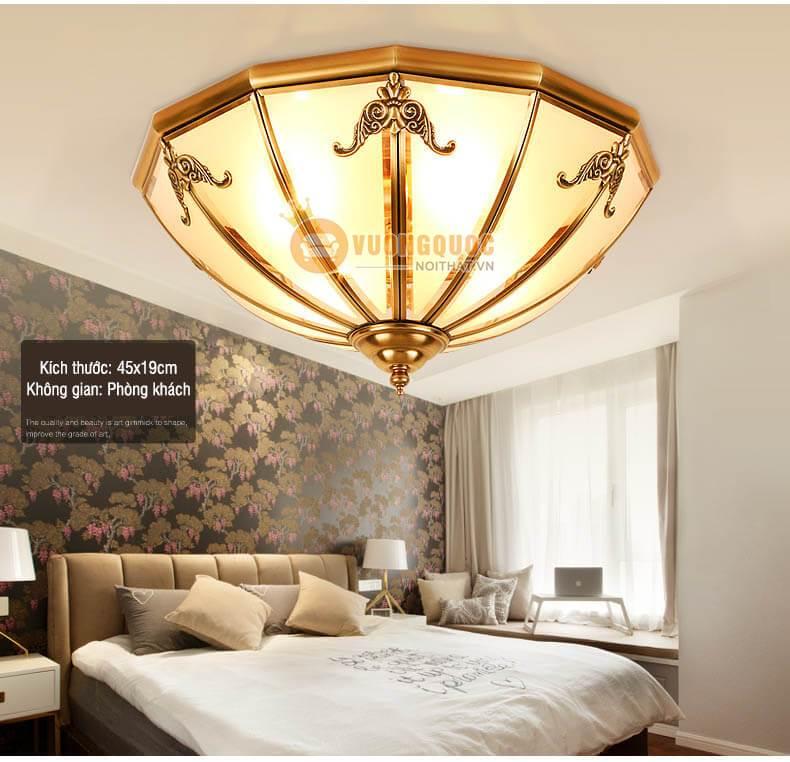 Chiêm ngưỡng 3 mẫu đèn ốp trần phong cách châu Âu cho không gian nội thất sang trọng