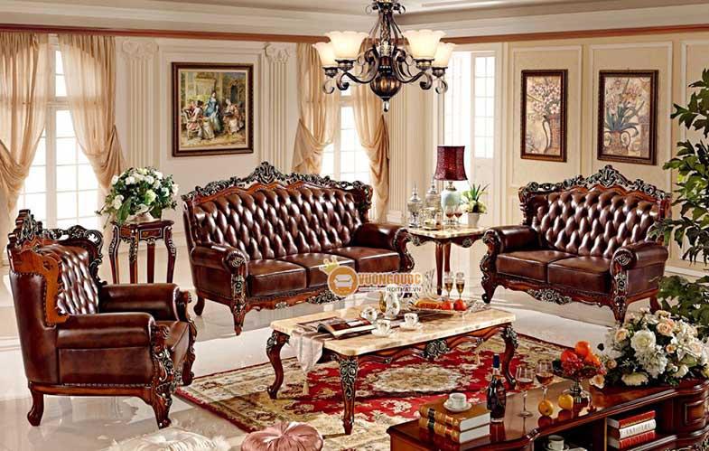 Bộ sưu tập bàn trà mặt đá sang trọng cho không gian thiết kế cổ điển