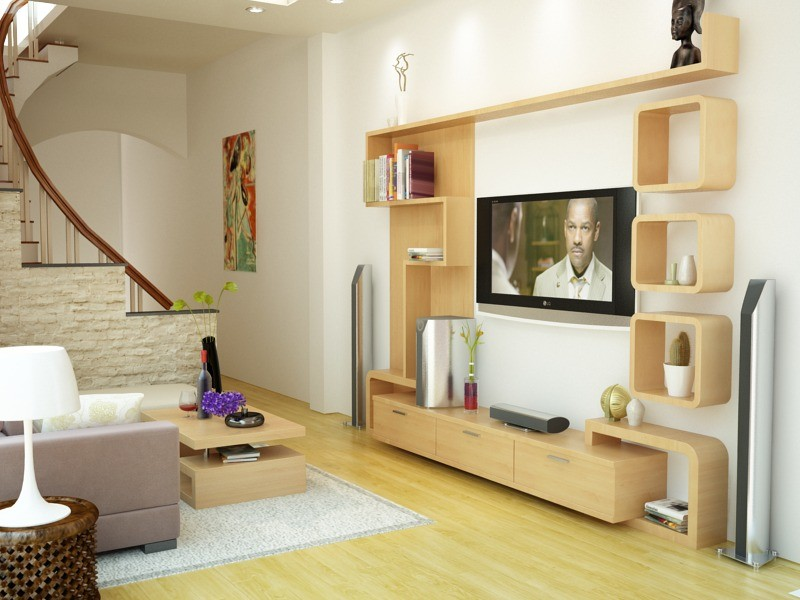 [10+] Mẫu kệ tivi phòng khách nhà ống đẹp giúp tiết kiệm diện tích