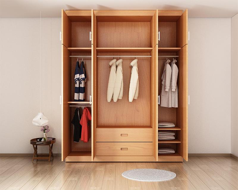 Top 4 mẫu tủ gỗ đựng quần áo giá rẻ nhất 2019