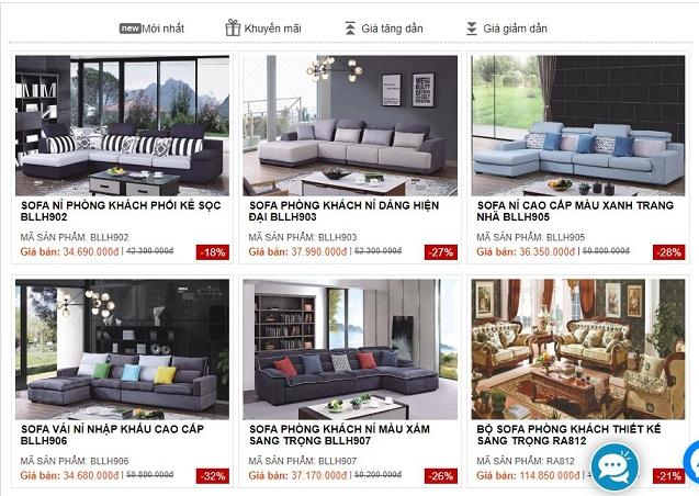 Thương hiệu hàng đầu khi mua sofa nỉ giá rẻ tại Hà Nội