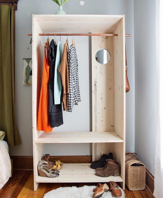 Học lỏm 4 cách tự làm tủ treo quần áo handmade đơn giản - đẹp
