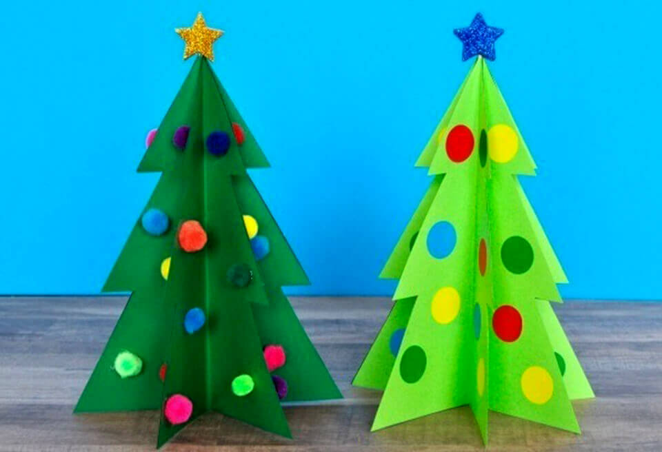 """Hướng dẫn 4 cách làm cây thông noel bằng giấy """" đơn giản"""""""