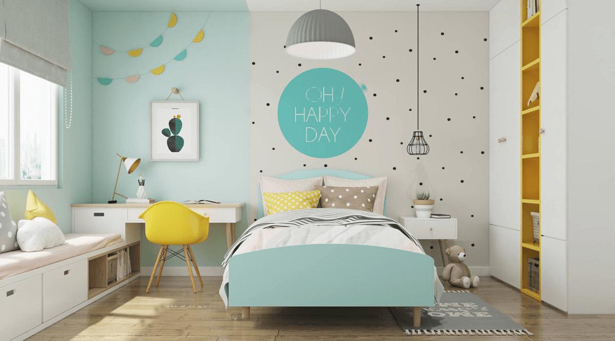 Cách trang trí phòng ngủ trẻ em khiến bé thích mê