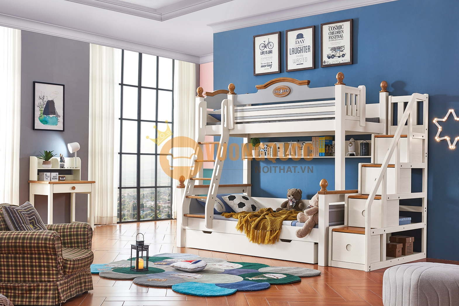 5 Lý do nên chọn giường tầng trẻ em bằng gỗ cho bé yêu